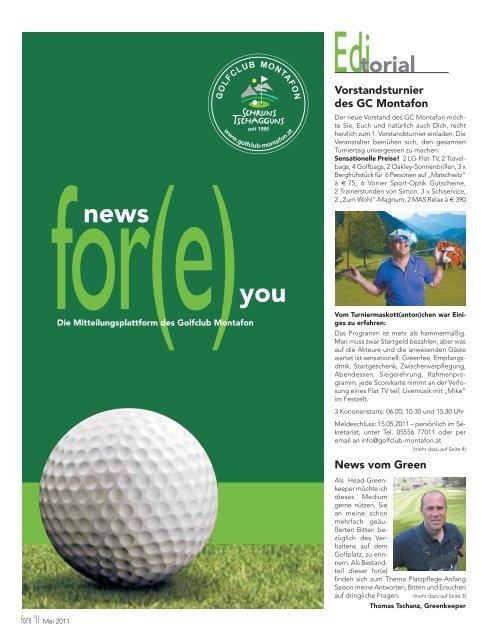 GOLF NEWS - Golfclub Montafon