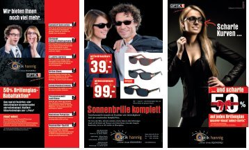 Sonnenbrille komplett - Optik Hannig GmbH