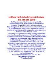 caliber Heft-Inhaltsverzeichnisse ab Januar 2002 - all4shooters.com