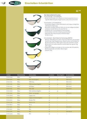 Einscheiben-Schutzbrillen XC™ - Robert Dietel Arbeitsschutz