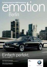 emotion Ausgabe 4/2008 - BMW Group - Niederlassung Berlin