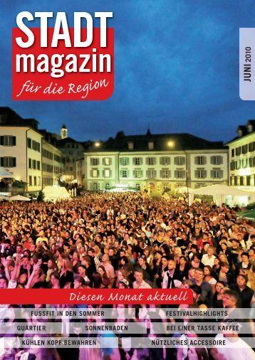 Ausgabe Juni 2010 - STADTmagazin Rapperswil-Jona