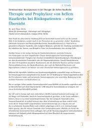 Therapie und Prophylaxe von hellem Hautkrebs bei ... - gd-online.de