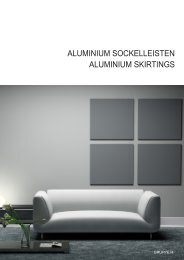 2 part - ALUMINIUM SKIRTINGS