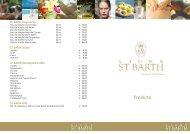Preisliste St. Barth - Winklerhotels