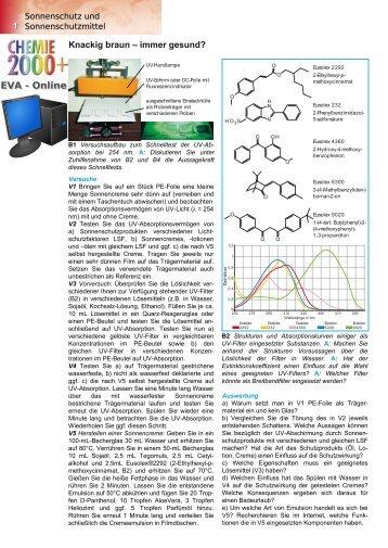 EVA - Online - Chemie und ihre Didaktik, Universität Wuppertal
