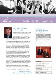 Letter to Shareholders