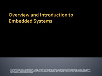 Overview and Introduction to Embedded Systems