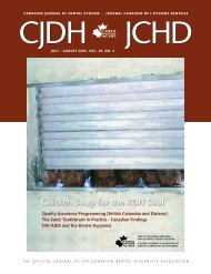 Canadian Journal of Dental Hygiene v39n4 - CDHA