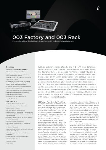 003 Factory and 003 Rack