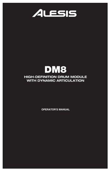 DM8 Module - Operator's Manual - RevA - Alesis