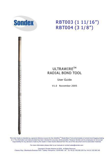 Radial Bond Tool - GE Energy
