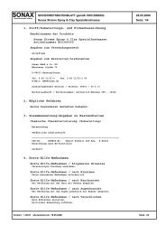 1. Stoff/Zubereitungs- und Firmenbezeichnung 2. Mögliche ...