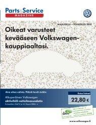 Oikeat varusteet kevääseen Volkswagen- kauppiaaltasi.