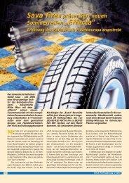 Sava Tires präsentiert neuen Sommerreifen ... - Reifenpresse.de