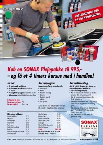 Køb en SONAX Plejepakke til 995,- – og få et 4 timers kursus med i ...