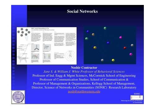 Social Networks - Institute of Food Research