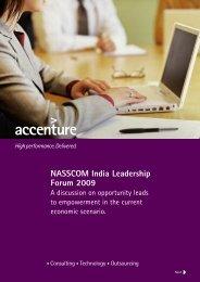 NASSCOM India Leadership Forum 2009 - Accenture
