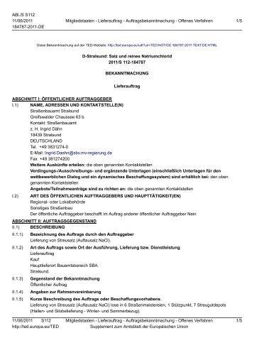 D-Stralsund: Salz und reines Natriumchlorid