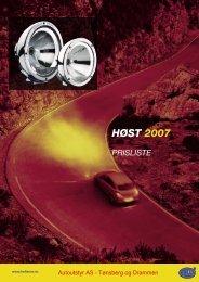 HØST 2007 PrISlISte - Autoutstyr AS