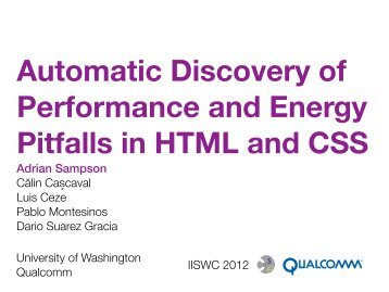 Web Pages WebChar Analysis Performance and Energy ... - Home
