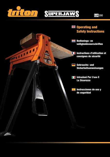 Operating and Safety Instructions - Triton Tools