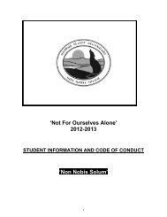 'Not For Ourselves Alone' 2012-2013 'Non Nobis Solum'