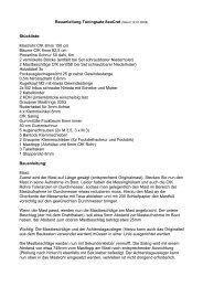 Bauanleitung Tuningsatz SeaCret (Stand 12.01 ... - RT - Modellbau
