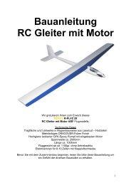 Bauanleitung RC Gleiter mit Motor - RC-Outlet-NRW