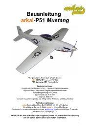 Bauanleitung arkai-P51 Mustang