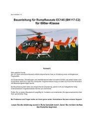Bauanleitung für Rumpfbausatz EC145 (BK117-C2) - Docu-and-Info