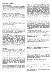 Anleitung FOXBAT - ACT europe