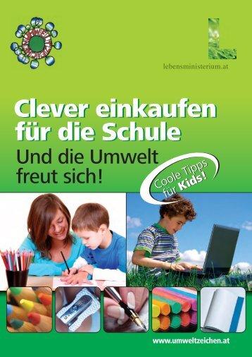 Clever einkaufen für die Schule Clever einkaufen für ... - Umweltprofis