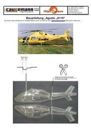 """Bauanleitung """"Agusta """"A119"""" - freakware GmbH"""