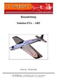 Bauanleitung Solution F5A – ARF - RC-Luftbilder.de