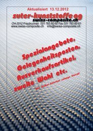 Spezialangebote - Suter Swiss-Composite Group
