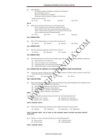 PHARMACOPHORE SOLUTIONS-JAIPUR - gpat india