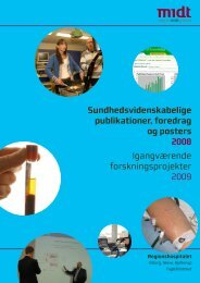 Sundhedsvidenskabelige publikationer, foredrag og posters 2008