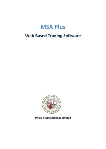 MSA Plus - Dhaka Stock Exchange