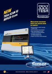 NEW TESA-SCAN 52 REFLEX-Click Measuring rounded parts has ...