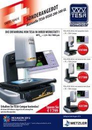 SONDERANGEBOT Manuelle TESA-VISIO 200-300 GL ... - Metzler