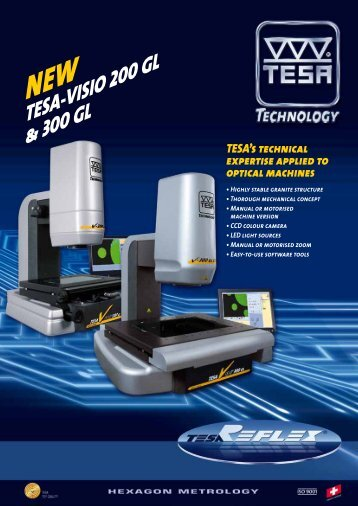 NEW TESA-VISIO 200 GL & 300 GL TESA's technical expertise ...