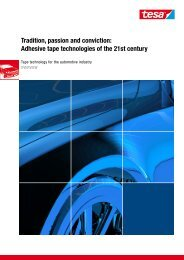 Tradition, passion and conviction: Adhesive tape technologies of the ...