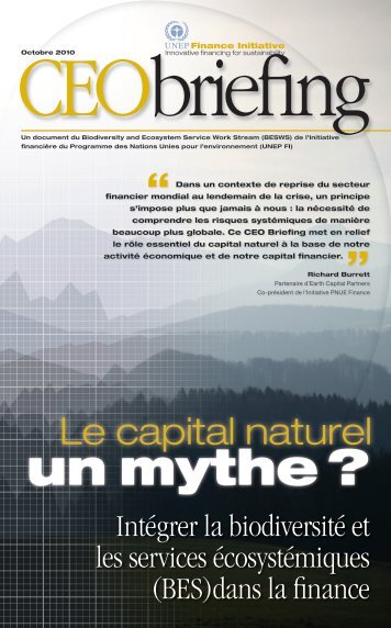 un mythe ? - UNEP Finance Initiative