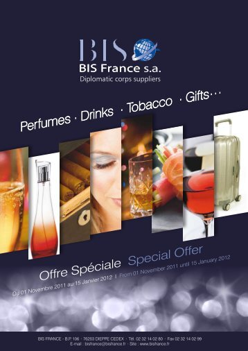 Perfumes . Drinks . Tobacco . Gifts… - BIS France