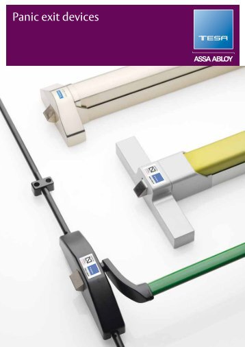 Panic Exit Devices for safe evacuations - ASSA ABLOY