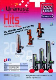 TESA MICRO-HITE manual 350/600/900 - Uranusz