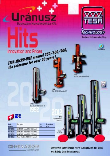 tesa micro hite manual 350 600 900 the reference for over 20 rh yumpu com micro hite 350 tesa manuals Tesa MICRO-HITE Accessories