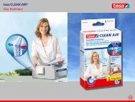 tesa CLEAN AIR® Das Sortiment