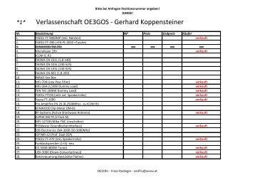 Verlassenschaft OE3GOS - Gerhard Koppensteiner - ADL 315